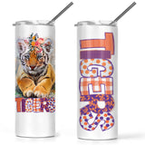 20 ounce White Stainless Steel Skinny Tumbler Choose ANY Design Listed in Kayla's T-Shirt Party