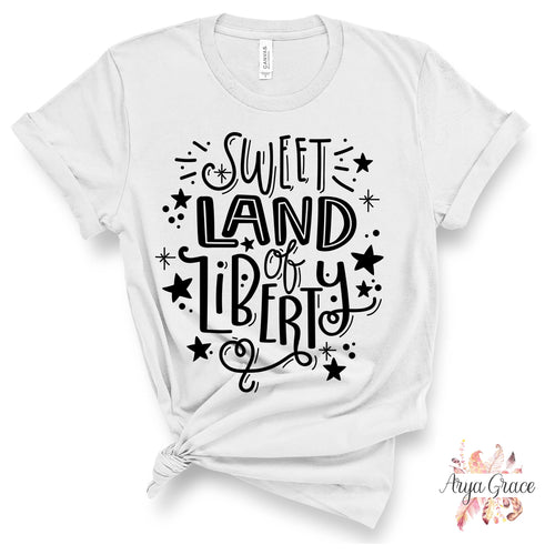 Sweet Land of Liberty Graphic Tee {Adult}