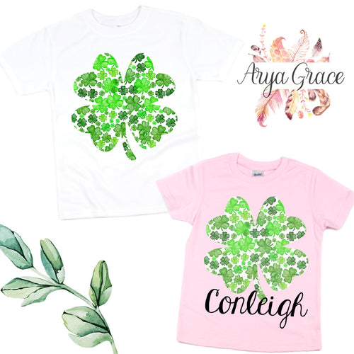 Watercolor Shamrock Graphic Tee {Infant/Toddler Youth}