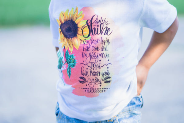 Sunflower {Isiah 60:1} Graphic Tee