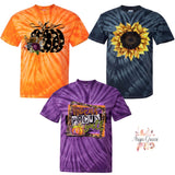 Spider Tie Dye Fall/Halloween Graphic Tee {Choose Your Design}