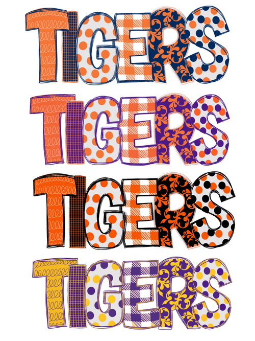 Tigers (Font Only) Graphic Tee