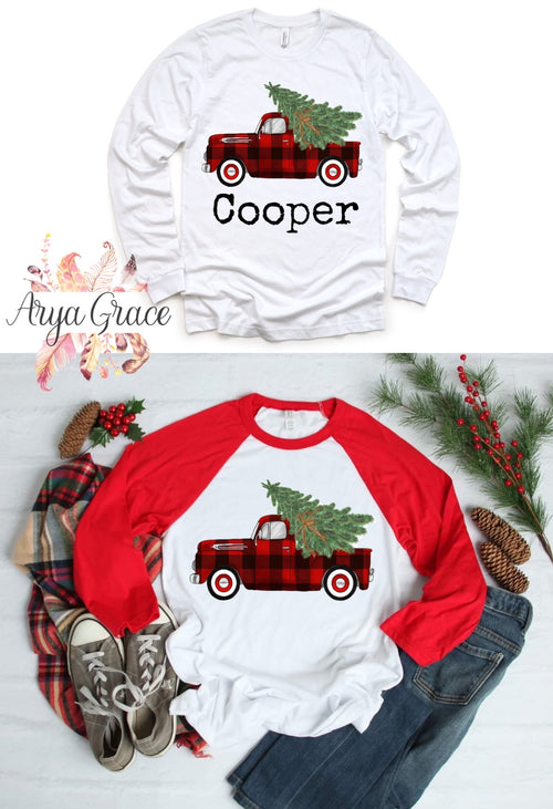 Buffalo Plaid Truck Graphic Tee