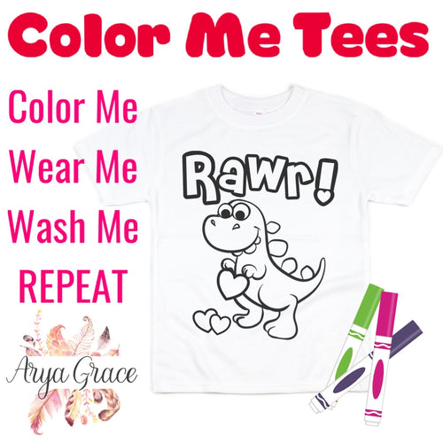 Rawr Color Me💙Graphic Tee {Toddler/Youth Sizing}