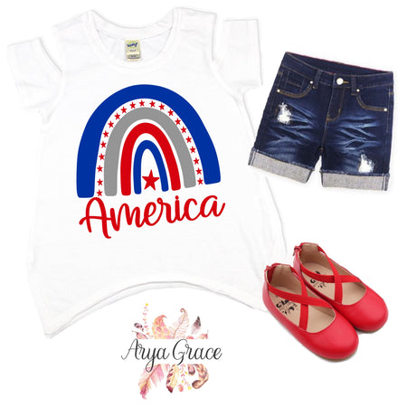 God Bless the USA Wagon Graphic Tee {Infant/Toddler/Youth}