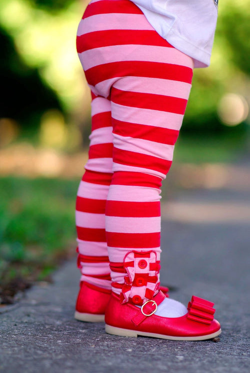 Candy Cane Button Leggings