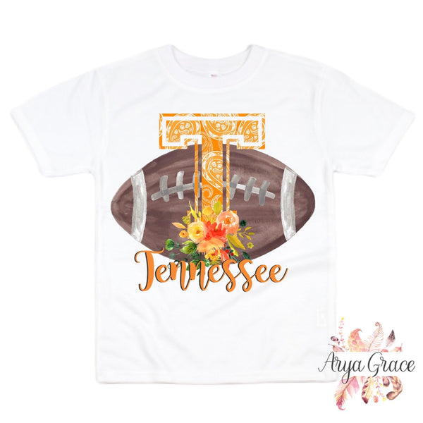 Tennessee Floral Football Graphic Tee {Infant/Toddler/Youth}