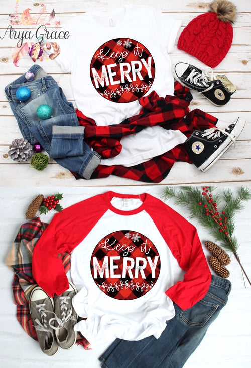 Buffalo Plaid Keep it Merry Graphic Tee