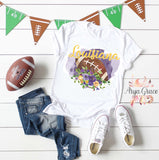 Louisiana Floral Football Graphic Tee {Adult Sizing}