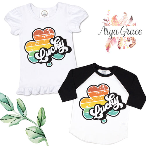 Retro Lucky Clover Graphic Tee {Infant/Toddler Youth}