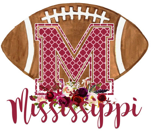 Mississippi Floral Football Graphic Tee