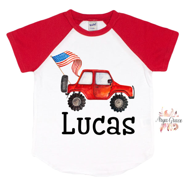 Red Flag Car Graphic Tee {Infant/Toddler/Youth}