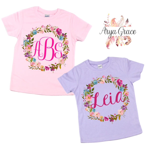 Floral Wreath Graphic Tee