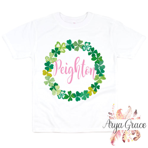 Clover Wreath Graphic Tee {Infant/Toddler Youth}