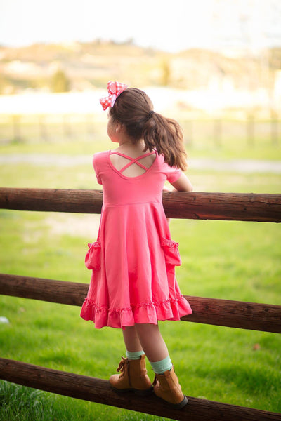 Watermelon Twirl Dress Set