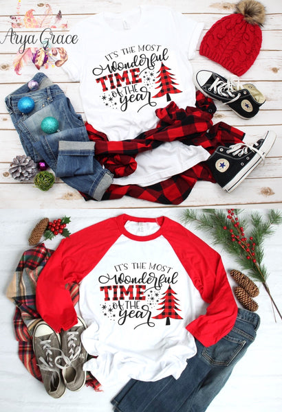 Buffalo Plaid It's The Most Wonderful Time of the Year Graphic Tee