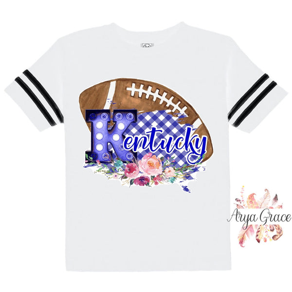 Kentucky Floral Football Style Graphic Tee {Infant/Toddler/Youth}