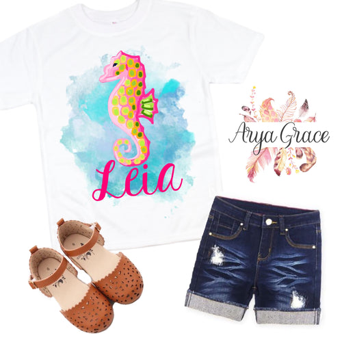 Seahorse Graphic Tee {Infant/Toddler/Youth Sizing}