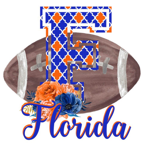 Florida Floral Football Graphic Tee