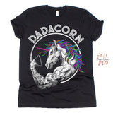 Dadacorn Black Graphic Tee {Adult}