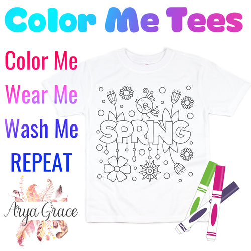 Spring Color Me💙Graphic Tee {Toddler/Youth Sizing}