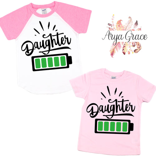 Daughter Battery Graphic Tee (Infant, Toddler & Youth)