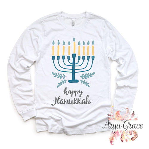 Watercolor Menorah Graphic Tee