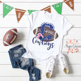Cowboys Floral Football Graphic Tee {Adult Sizing}
