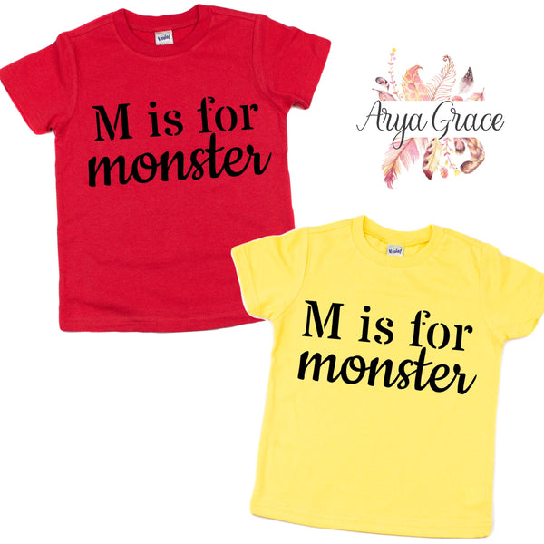 M is for Monster Graphic Tee (Infant, Toddler & Youth)
