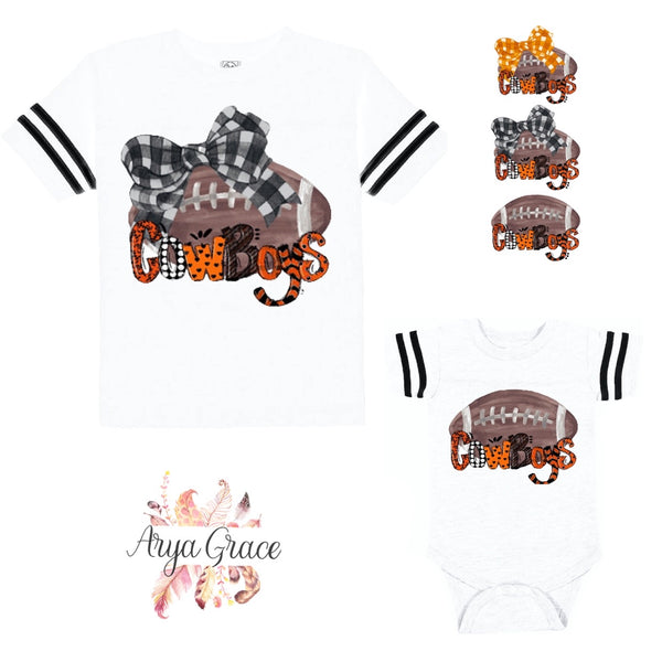 Cowboys (Oklahoma) Football Style Graphic Tee {Infant/Toddler/Youth}