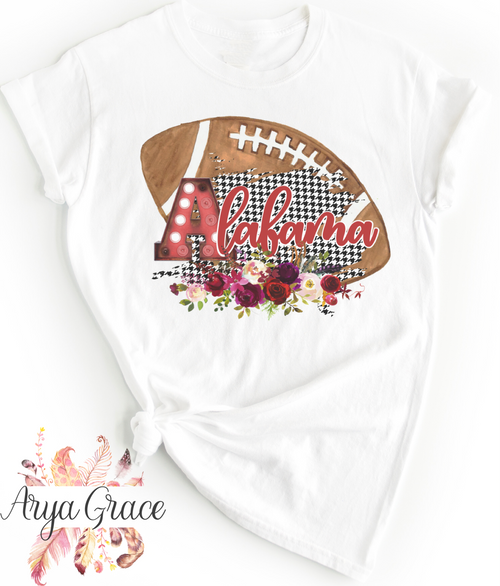 Alabama Floral Football Graphic Tee