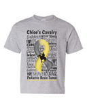 Chloe's Cavalry Toddler/Youth Gray Short Sleeve T-Shirt