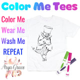 Owl(with hat) Color Me💙Graphic Tee {Toddler/Youth Sizing}