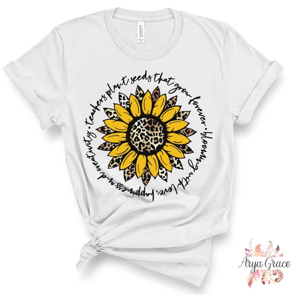 Teachers Plant Seeds Sunflower Graphic Tee