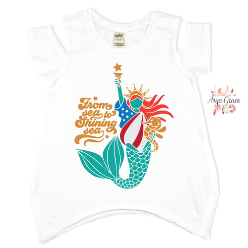 Mermaid Liberty Graphic Tee {Infant/Toddler/Youth}