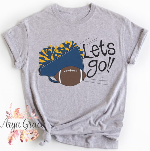 Lets Go (Blue/Gold) Graphic Tee