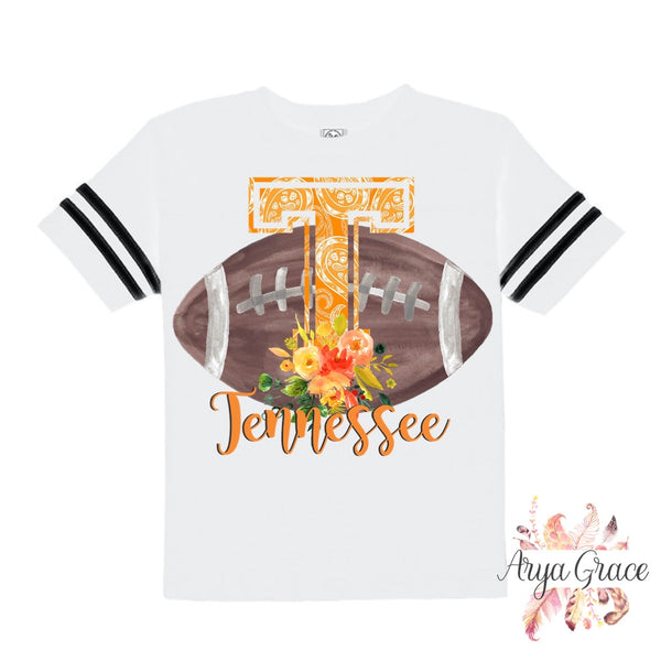 Tennessee Floral Football Style Graphic Tee {Infant/Toddler/Youth}