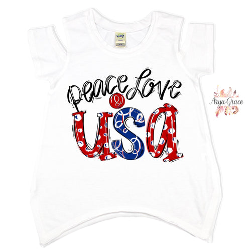 Peace Love USA Graphic Tee {Infant/Toddler/Youth}