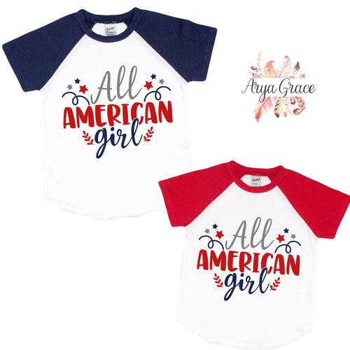 All American Girl Graphic Tee {Infant/Toddler/Youth}