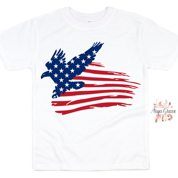 Distressed American Eagle Graphic Tee {Adult}
