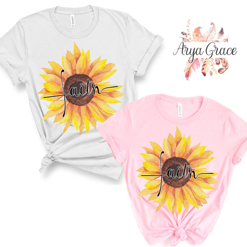 Sunflower Faith Graphic Tee {Adult Sizing}