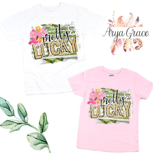 Pretty & Lucky Graphic Tee {Infant/Toddler Youth}