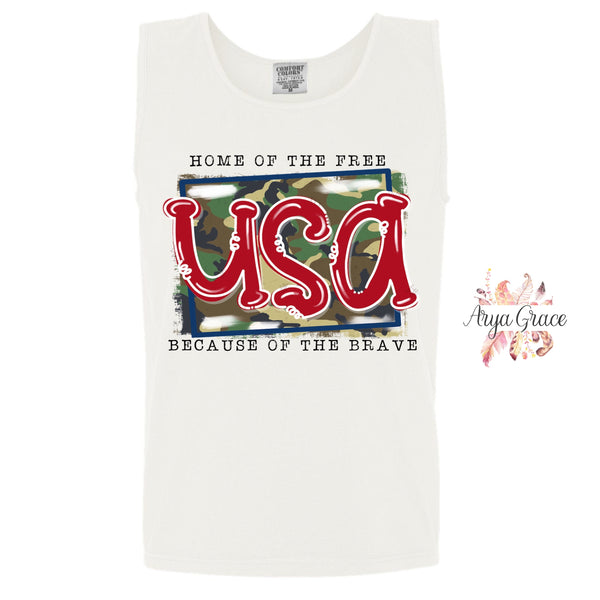 Home of the Free Graphic Tee {Adult}