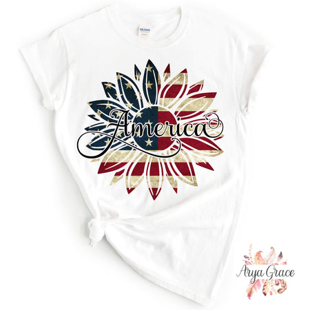 Patriotic Floral Wreath Graphic Tee {Infant/Toddler/Youth}