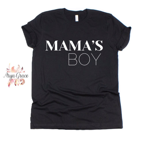 Mama's Boy Black Graphic Tee {Toddler/Youth/Adult Sizing}