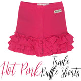Hot Pink Triple Ruffle Shorties