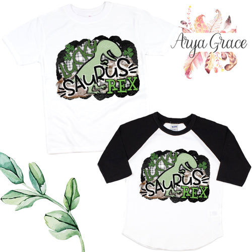 Lucky Saurus Rex Graphic Tee {Infant/Toddler Youth}