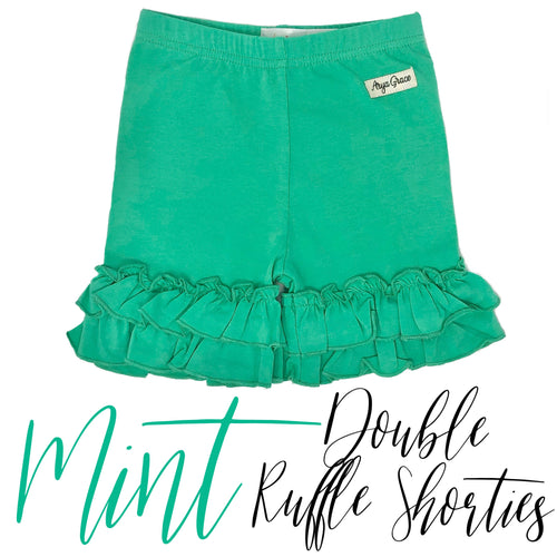 Mint Double Ruffle Shorties