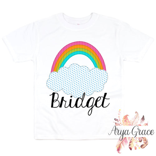Rainbow with Polka Dot Cloud Graphic Tee {Infant/Toddler Youth}