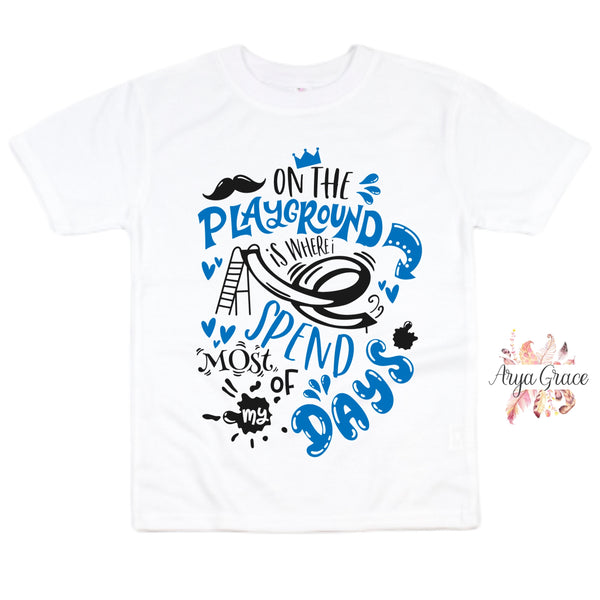 On the Playground (BLUE) Graphic Tee